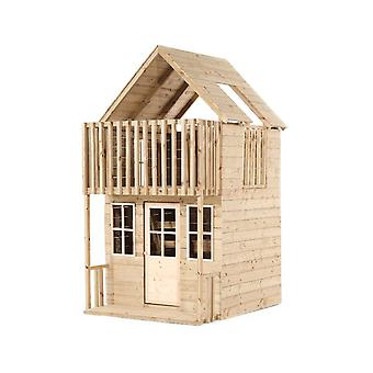 TP Toys Loft Playhouse en bois plein air 2 étages Playhouse