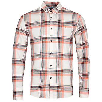 Farah Butterfield White Check Slim Fit Shirt