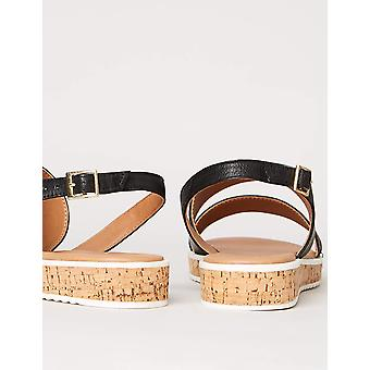 Brand - find. Women's Assymetric Cork Sole Leather