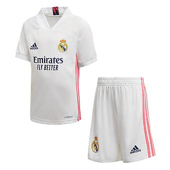 adidas Real Madrid 2020/21 Junior Kids Football Home Mini Kit White