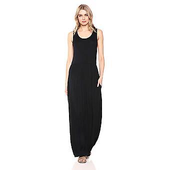 28 Palms Women's Sleeveless Maxi Dress, Black, XX-Large