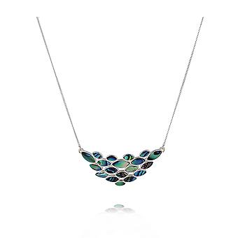 ADEN 925 Sterling Silver Abalone Parelketting (id 3709)