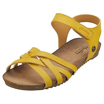 Mustang Single Strap Womens Casual Sandals in Yellow