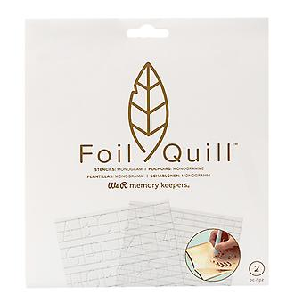 We R Memory Keepers Foil Quill Freestyle Monogram Stencils
