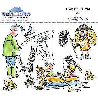 Kortet Hut Carpe Diem tydliga frimärken