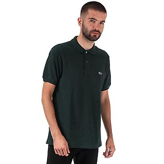Men's Lacoste Classic Fit L.12.64 Marl Pique Polo Shirt in Green