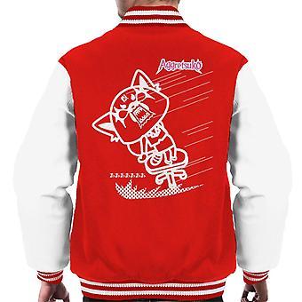Aggretsuko Full Blown Rage Men's Varsity Jacket