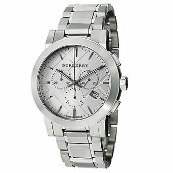 Burberry BU9350 Large Check Stainless Steel Bracelet Homme-apos;s Montre