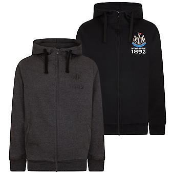 Newcastle United FC Official Football Gift Mens Fleece Zip Hoody