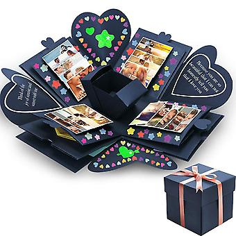 Creative Hexagon Surprise Explosion Box - Diy Scrapbook Photo Album