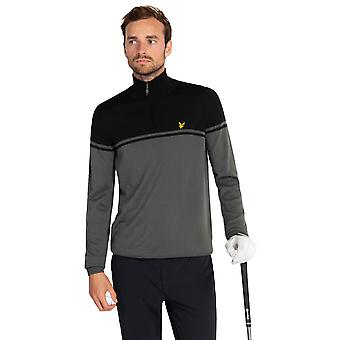 Lyle & Scott Mens Croft Vedenkestävä 1/4 Zip Golf Pullover Villapaita