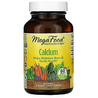 MegaFood, calcium, 60 tabletten