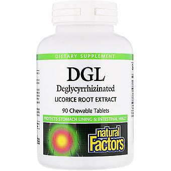 Natural Factors, DGL, Deglycyrrhizinated Licorice Root Extract, 90 Chewable Tabl