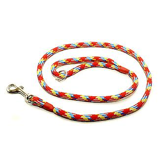 Kjk Ropeworks Braid Clip Lead (120cm) With Rubber Stop - Rainbow