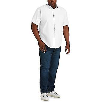 Essentials Mænd & s Big & Tall Kortærmet Pocket Oxford Shirt passer af DX ...