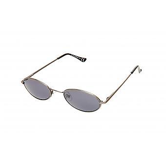 Sunglasses Unisex round silver/antracit/grey (20-136)