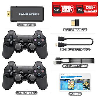 4k Hd Video Game Console 2.4g Double Wireless Controller For Ps1/gba Classic Retro Tv Game