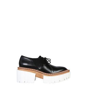 Stella Mccartney 800268w0u701002 Dames's Black Faux Leather Lace-up Schoenen