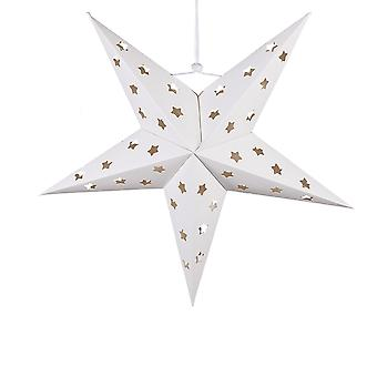 60cm White Paper Christmas Hanging Star met 4 LED-hoogteten