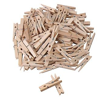 100 x Wooden Spring Clothes Clip 45x10x7mm
