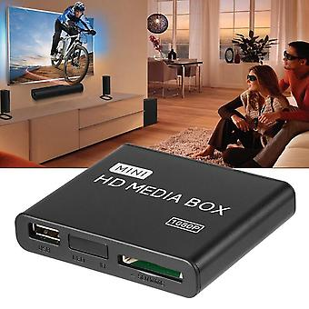 Mini Media Player-1080p Mini Hdd Media Tv Video Multimedia Player Full Hd Con lettore di schede Sd Mmc 100mpbs Au Eu Us Plug