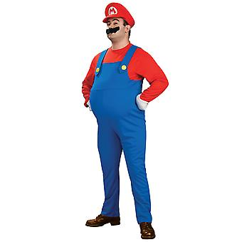 Super Mario Deluxe spill rørlegger partiet 1980-tallet tegneserie menn drakt