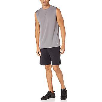 أساسيات الرجال 2 حزمة الأداء التكنولوجيا خزان العضلات، متوسطة رمادية / الأزرق الملكي، X-كبير