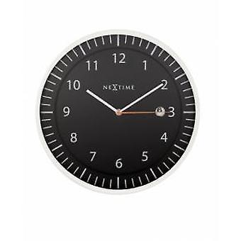 NeXtime 3058zw Quick [Ø35 cm, Zwart]