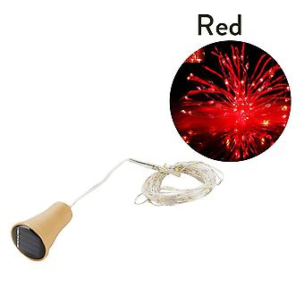Led Kobber Solar Cork Fairy String Lys til udsmykning Vin Bottle Jul