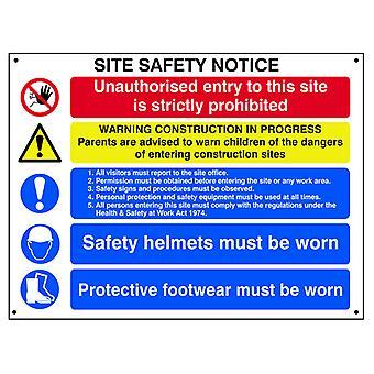 Scan meddelelse om sikkerhed på det sammensatte sted - FMX 800 x 600 mm SCA4550