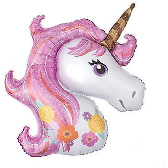 Mini cheval de dessin animé, ballon de licorne pour la décoration de partie d'anniversaire