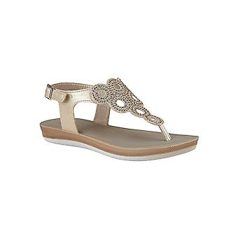 Lotus Milan Zehen-Post Sandalen in Gold