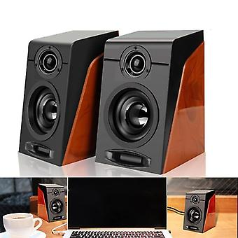 Usb Wired Wooden Combination Speakers - Speakers, Bass Stereo, Music Player,