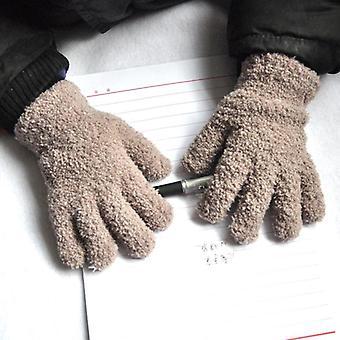 Warmom Coral Fleece Verdikking - Pluche Harige Full Finger Mittens Zachte Handschoenen