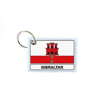 Porte cles cle clefs imprime double face drapeau GBZ gibraltar