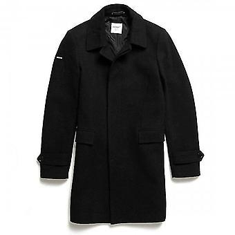 Superdry Edit Wool Car Coat Black 02A