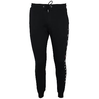 Tommy hilfiger men's black branded sweatpants
