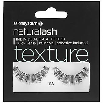 Salon System  Naturalash - Texture - No 118 Reusable Eyelashes - (adhesive Included)