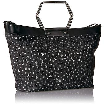 T-Shirt & Jeans Ring Tote in Denim with Stars, Denim, Size One Size