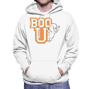 Casper The Friendly Ghost Boo You Varisty Men's Hooded Sweatshirt