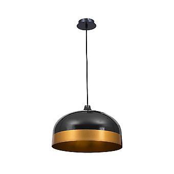 Edison Pendant Lamp Black / Gold 1xe27