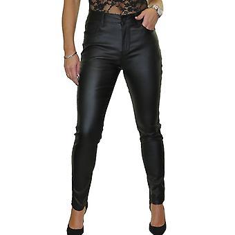 Women's korkea vyötärö venyttää nahka näyttää farkut naisten laiha housut 8-20