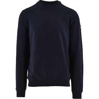 Paul & Shark Navy Summer Cotton Fleece Crew Neck Sweatshirt