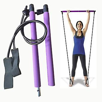 Pilates bar stick with resistance band