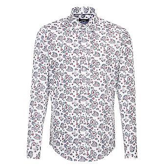 Seidensticker Covered Paisley Patterned Mens Business Shirt