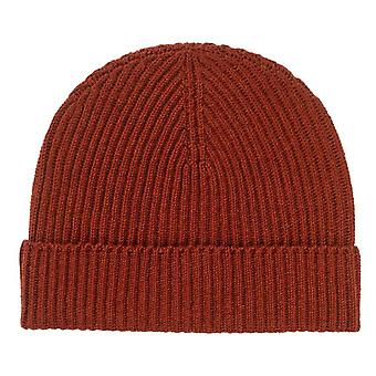 Johnstons of Elgin Ribbed Hat - Harissa Brown