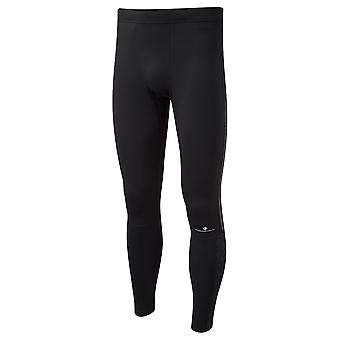 Ronhill Momentum Afterlight Mens Breathable & Hi Vis Running Tights All Black/reflect