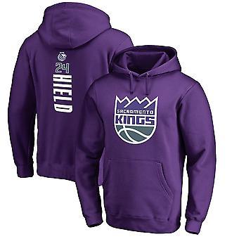 Sacramento Kings 24 Hield Loose Pullover Hoodie Sweatshirt WY272