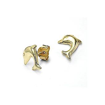 Ohrringe Dolphins 9k Gold