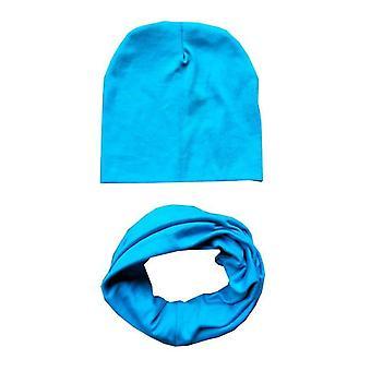 Autumn Winter Baby Hat Set,,, Neck Scarf, Spring Warm Neckerchief, Kids Beanies